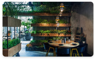 Jardín para restaurantes